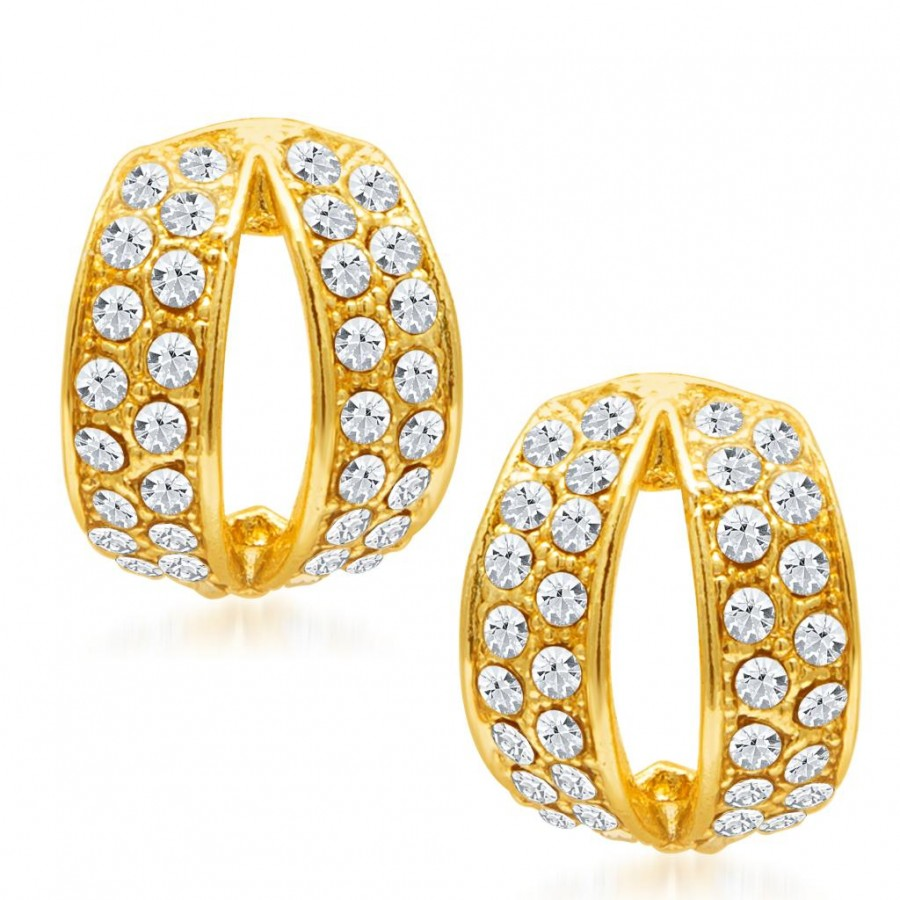 Buy Sukkhi Divine Gold Plated AD Earring for Women Online