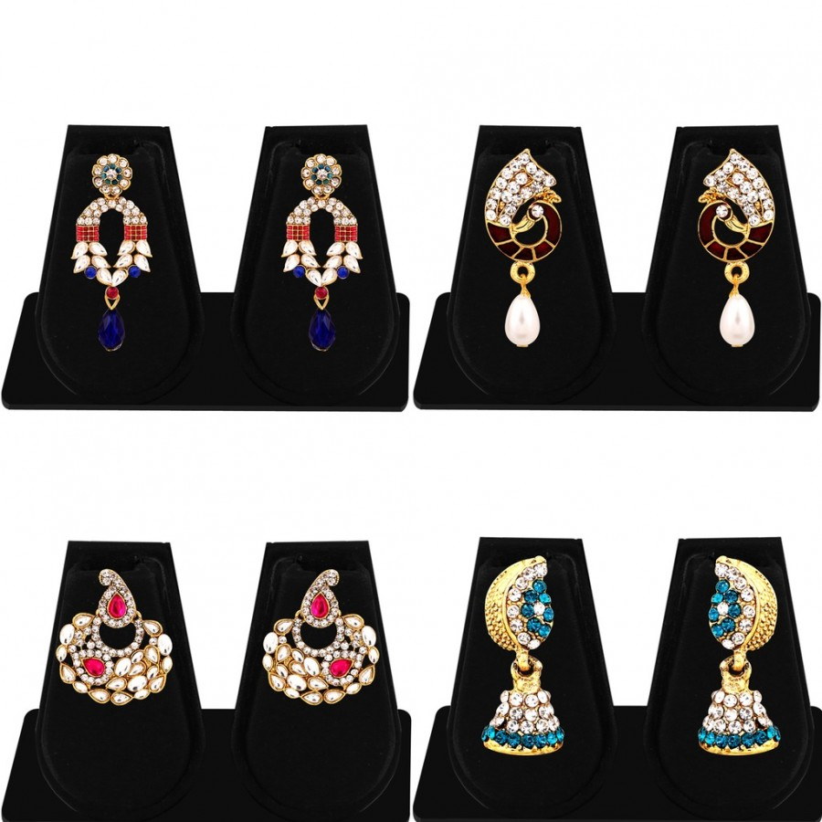 Buy Sukkhi Marquise Gold Plated AD Combo Earring For Women Online