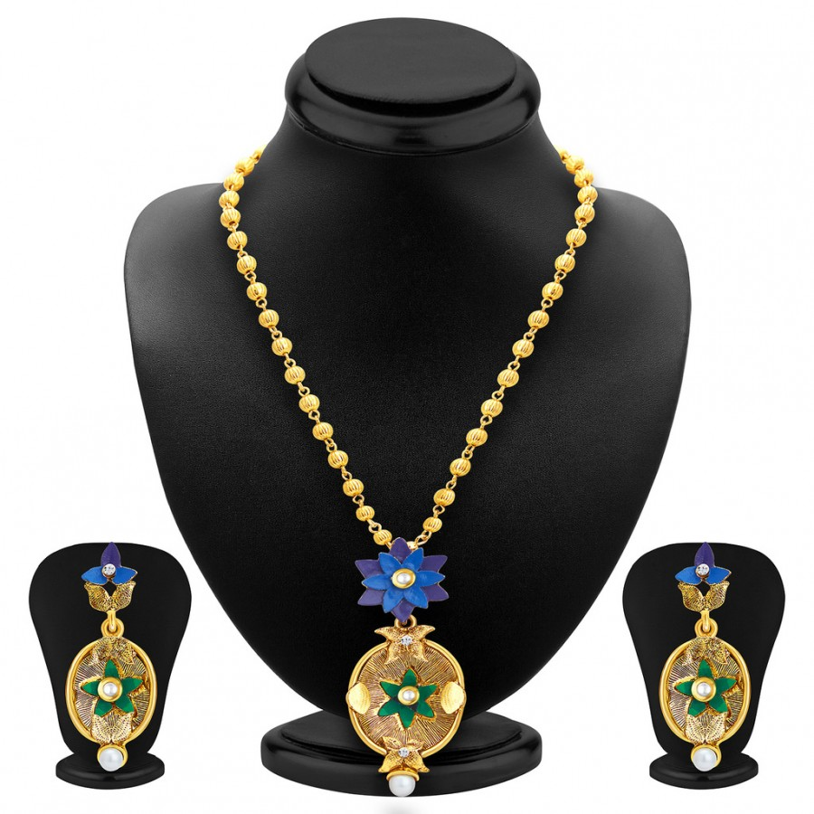 Buy Sukkhi Ritzy Gold Plated Pendant Set For Women Online
