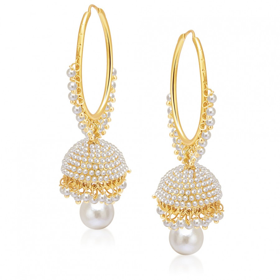 Buy Sukkhi Gorgeous Gold Plated Pearl Jhumki For Women Online