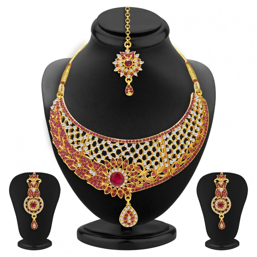 Buy Sukkhi Amazing Gold Plated AD Necklace Set For Women Online