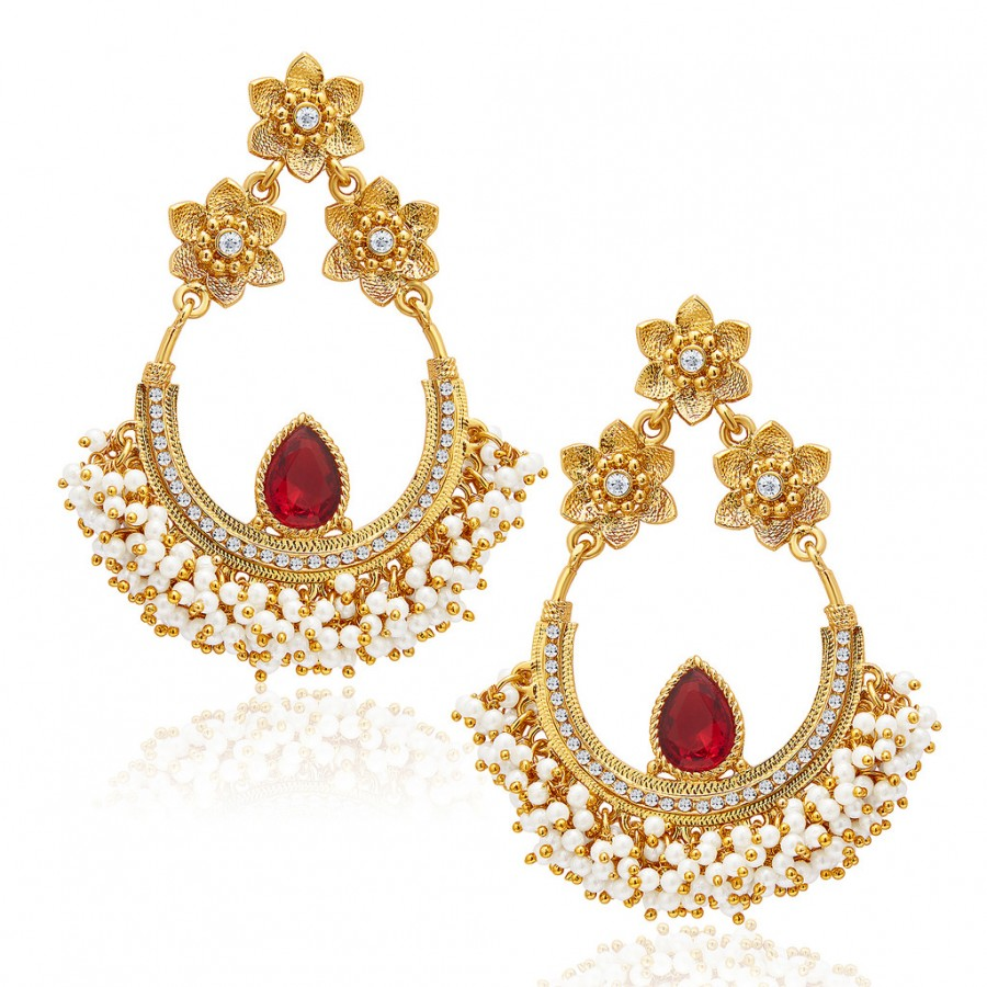 Buy Sukkhi Blossomy Mehandi Plated Earring For Women Online