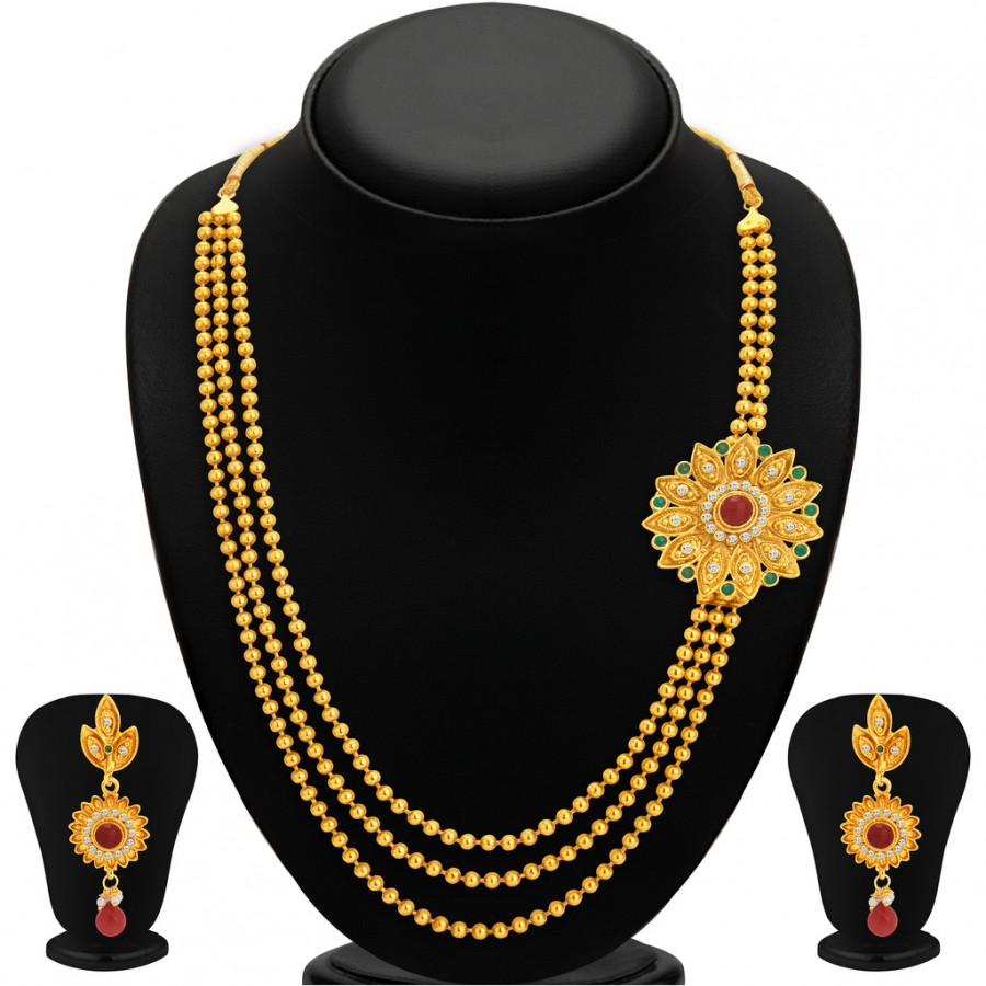 Buy Sukkhi Appealing Gold Plated Necklace Set For Women Online