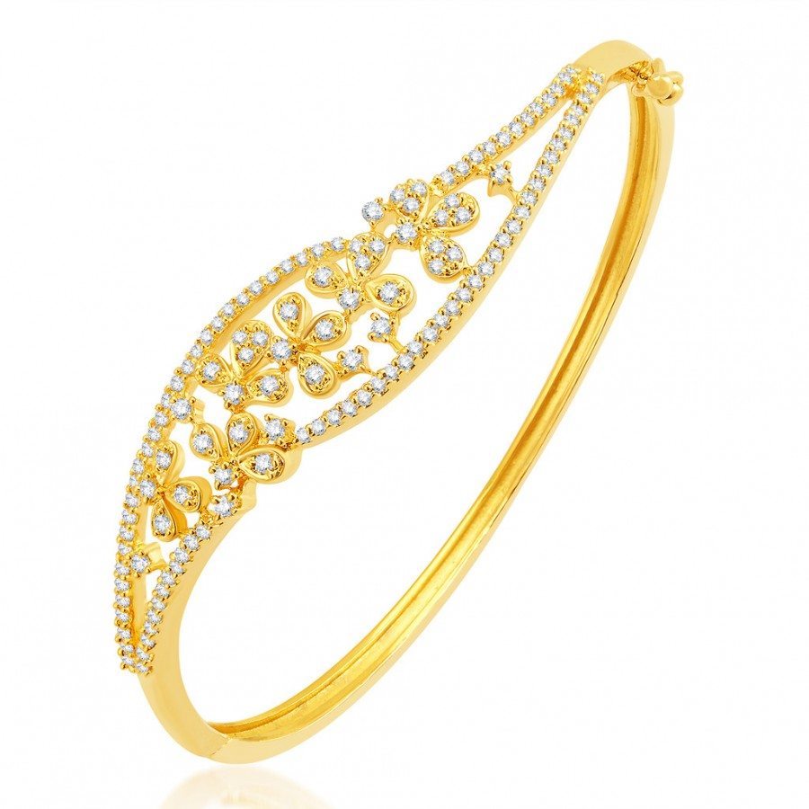 Buy Pissara Beguiling Gold Plated CZ Kada Online