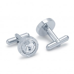 Buy Sukkhi Excellent Rhodium Plated AD Cufflink Online
