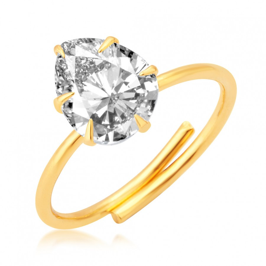 Buy Pissara Modern Gold Plated CZ Ring For Women Online
