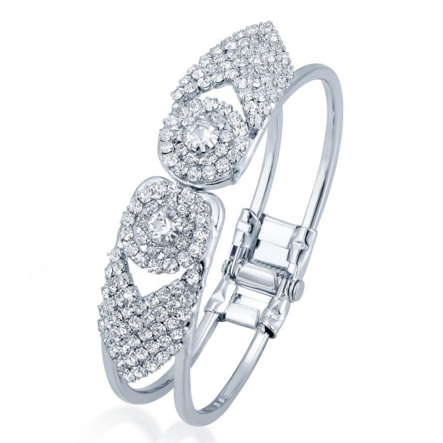 Buy Sukkhi Marvelous Rhodium Plated AD Kada for Women Online