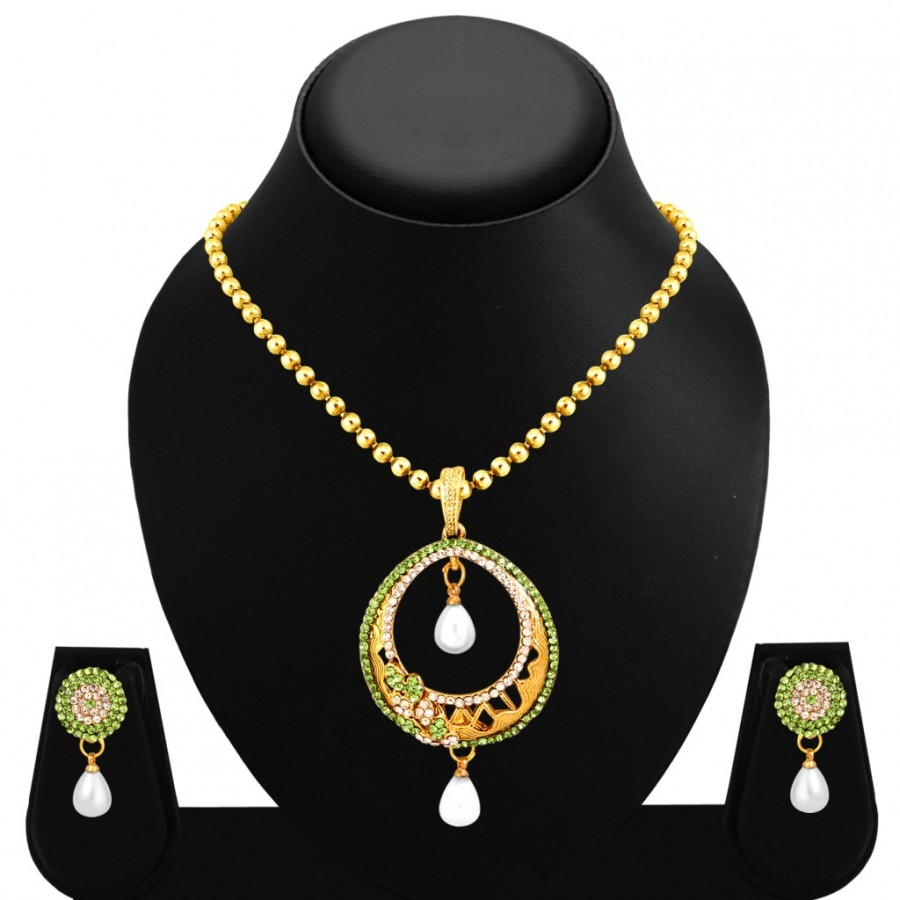 Buy Sukkhi Sparkling Gold Plated Pendant Set For Women Online