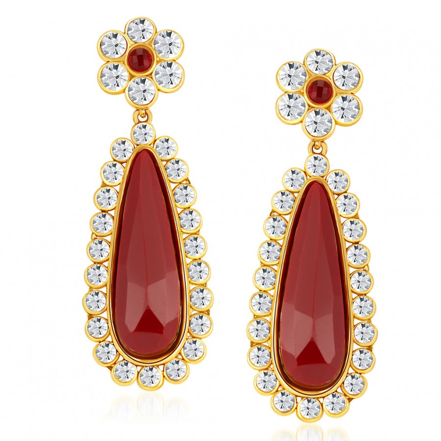 Buy Sukkhi Sleek Gold Plated Australian Diamond Earrings Online