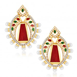Buy Sukkhi Glorious Gold Plated Australian Diamond Earrings Online