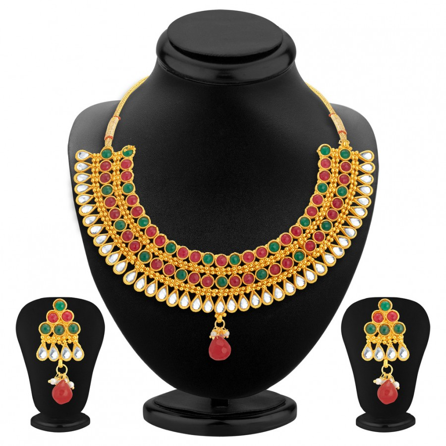 Buy Sukkhi Beguiling Gold Plated Necklace Set For Women Online