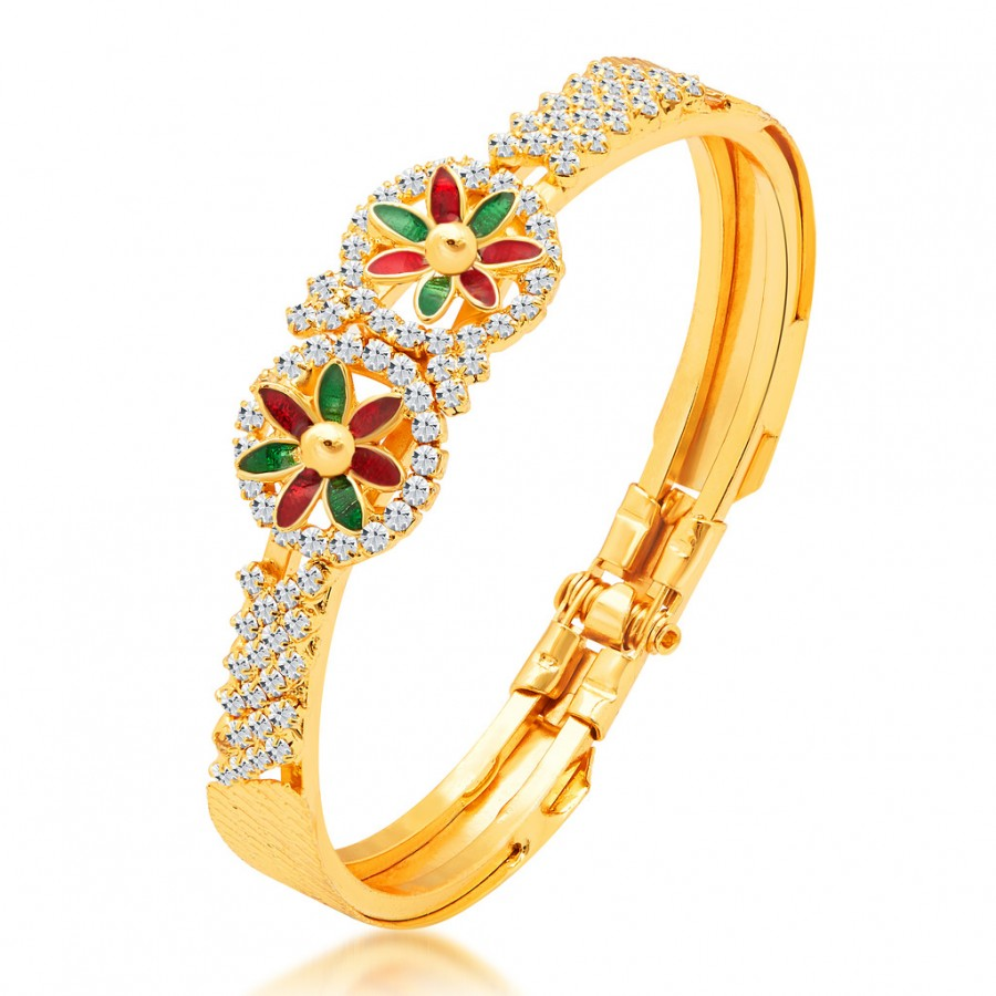 Buy Sukkhi Sparkling Gold Plated AD Kada Online