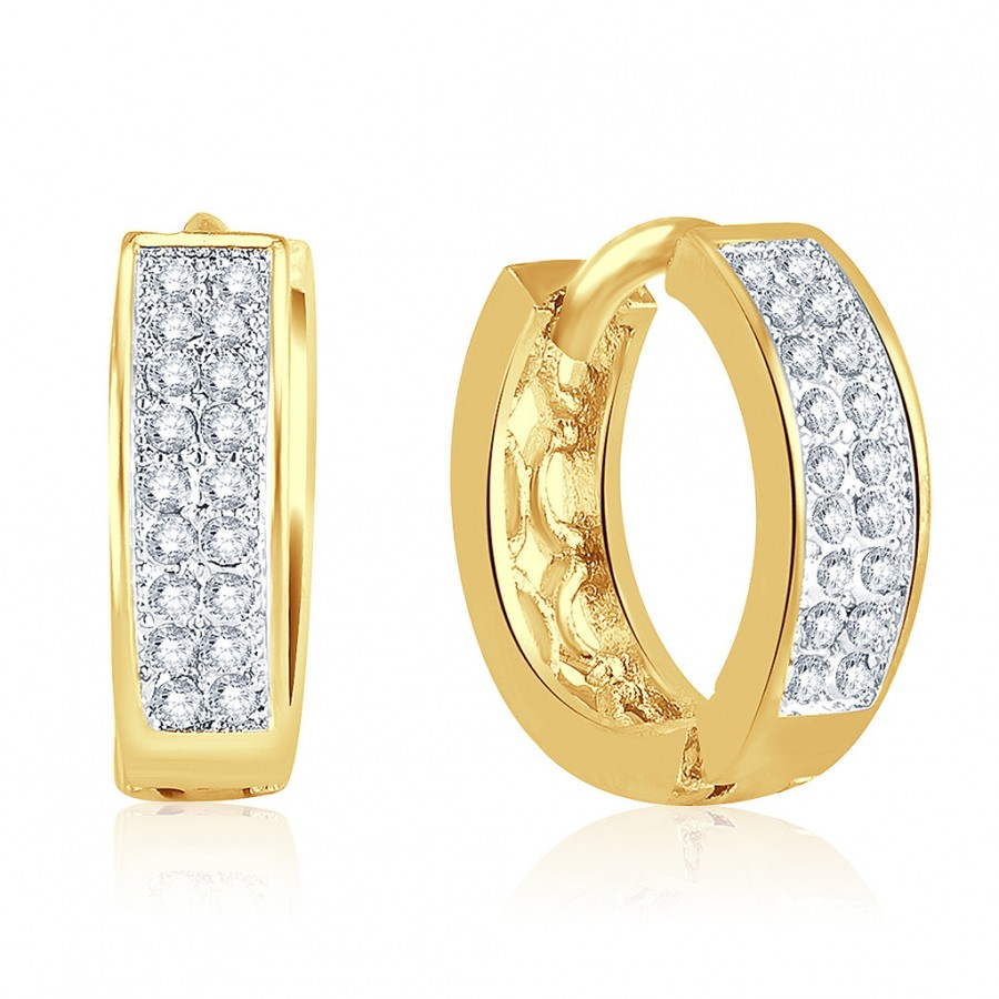 Buy Pissara Trendy Gold Plated Micro Pave Setting CZ Earrings Online