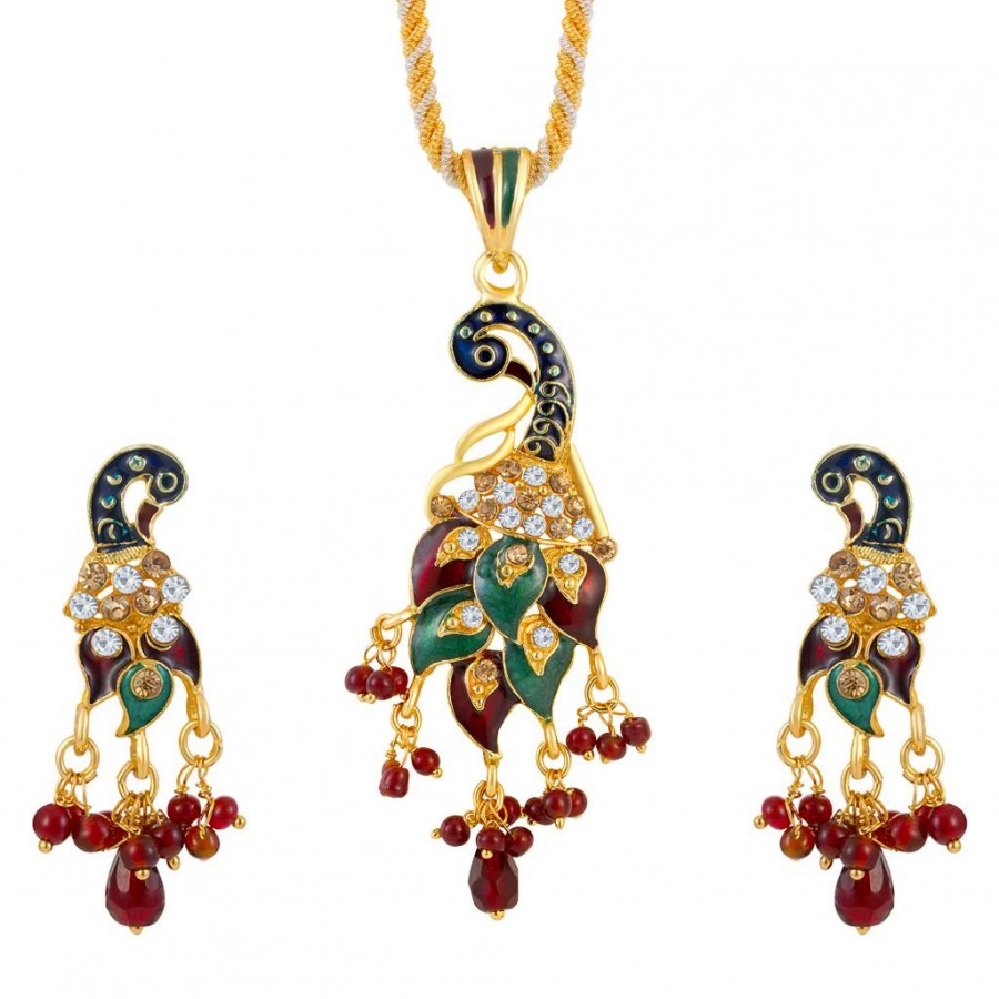 Buy Sukkhi Creative Fashion Gold plated Pendant Set Online