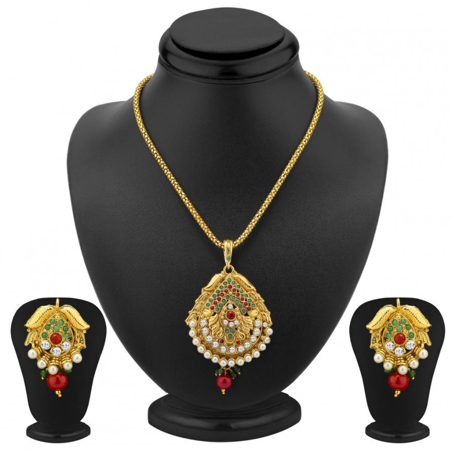 Buy Sukkhi Excellent Gold Plated Pendant Set Online