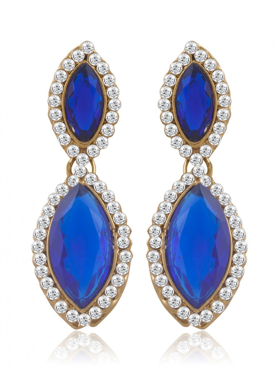 Buy Sukkhi Fabulous Gold Plated AD Earring For Women Online