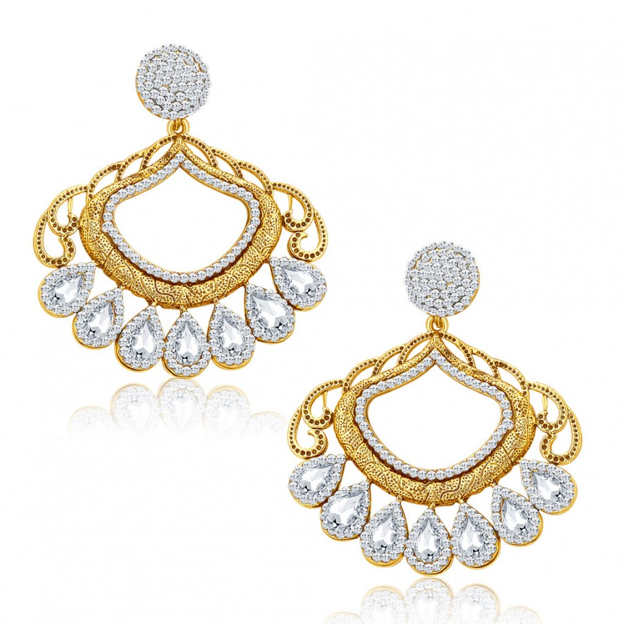 Buy Sukkhi Finely Gold Plated AD Earrings For Women Online