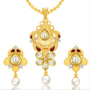 Buy Sukkhi Incredible Gold Plated Kundan Pendant Set Online