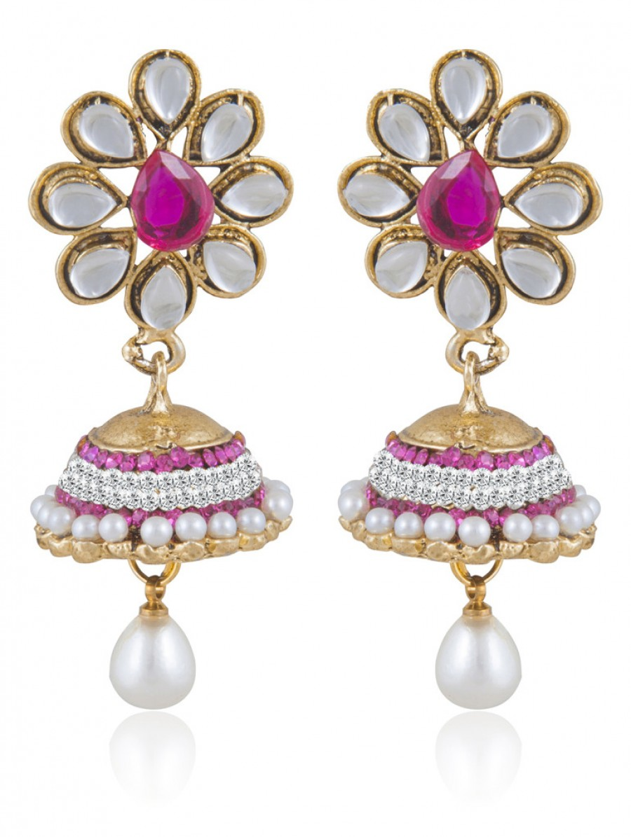 Buy Sukkhi Elegant Gold Plated Kundan Jhumki Earring For Women Online