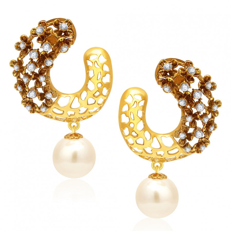 Buy Sukkhi Finely Gold Plated AD Earring For Women Online