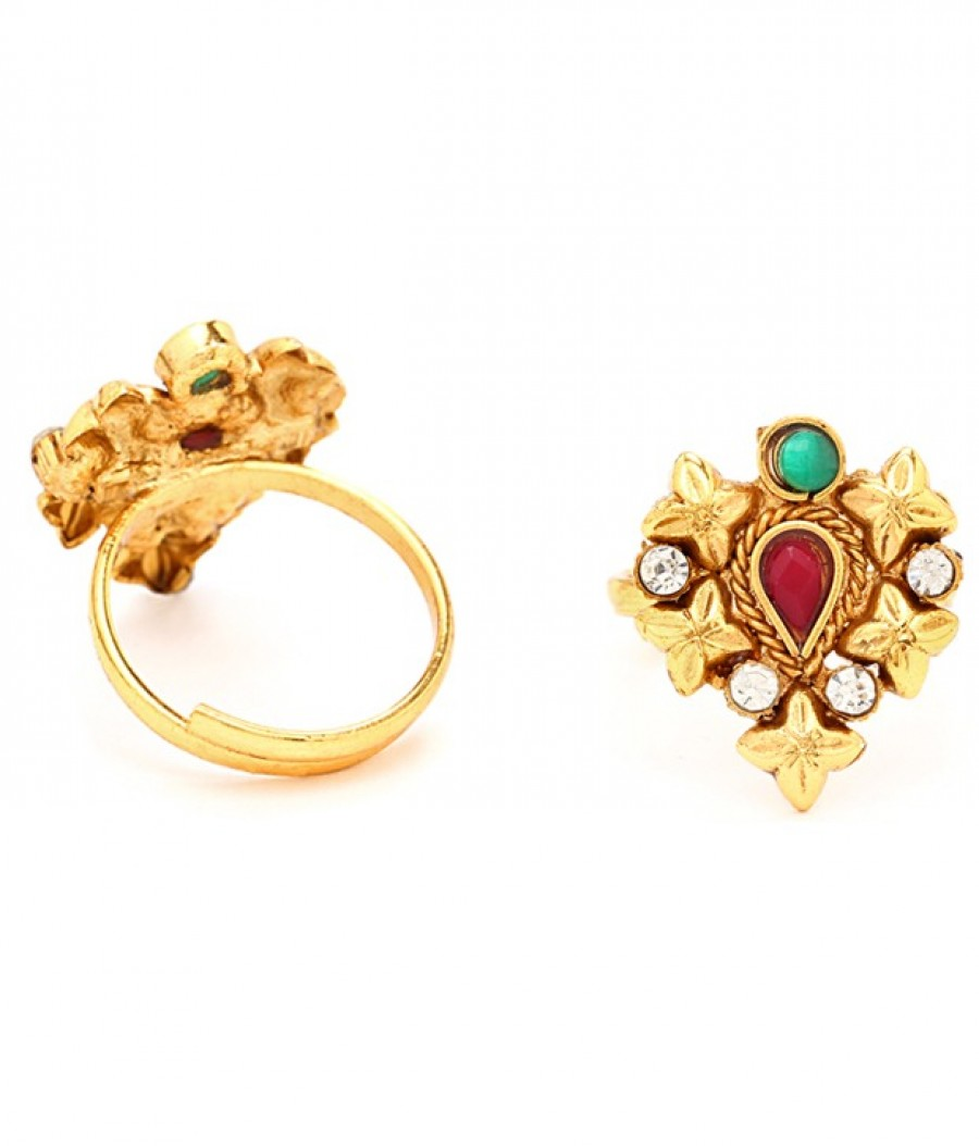 Buy Sukkhi Magnificent Gold Plated Australian Diamond Stone Studded Toering Online