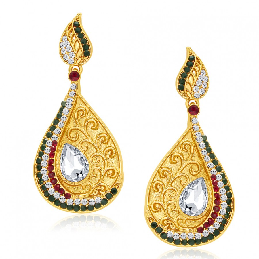 Buy Sukkhi Eye-Catchy Gold Plated AD Earring For Women Online
