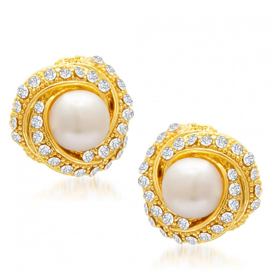 Buy Sukkhi Designer Gold Plated AD Moti Earring for Women Online