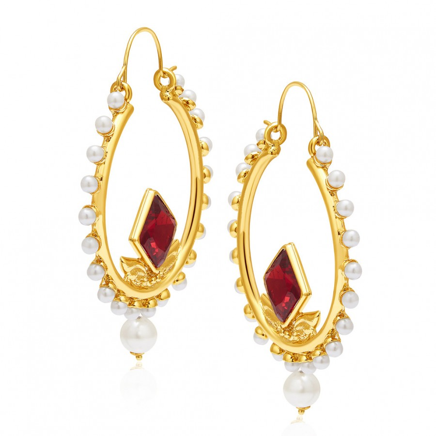 Buy Sukkhi Shimmering Mehandi Plated Pearl Earring For Women Online