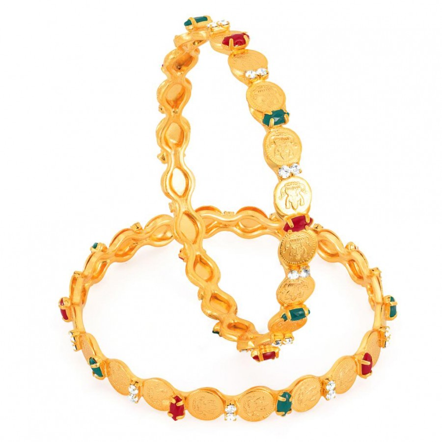 Buy Sukkhi Gold Plated Color lord Lakshmi bangles - 1116VB750 Online