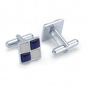 Buy Sukkhi Royal Rhodium Plated AD Cufflink Online