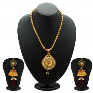 Buy Sukkhi Gleaming Gold Plated Coin Necklace Set for Women Online