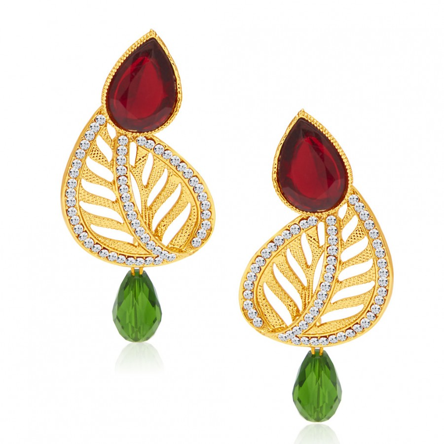 Buy Sukkhi Beguiling Gold Plated AD Earring For Women Online