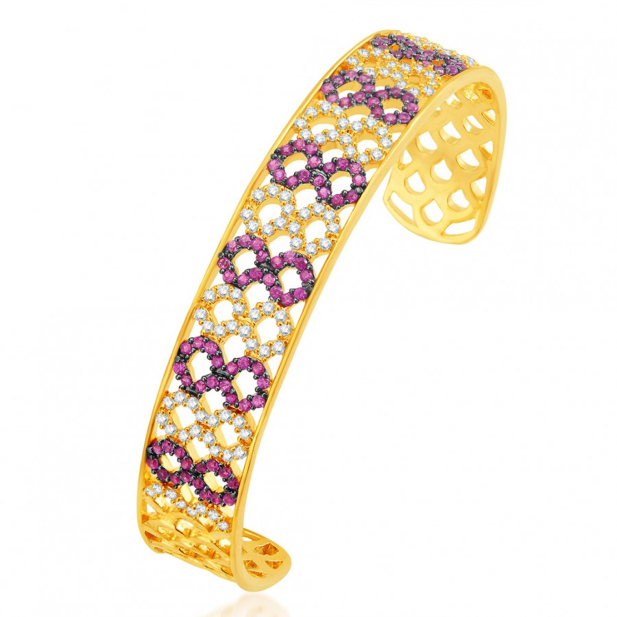 Buy Pissara Splendid Gold Plated CZ Kada Online