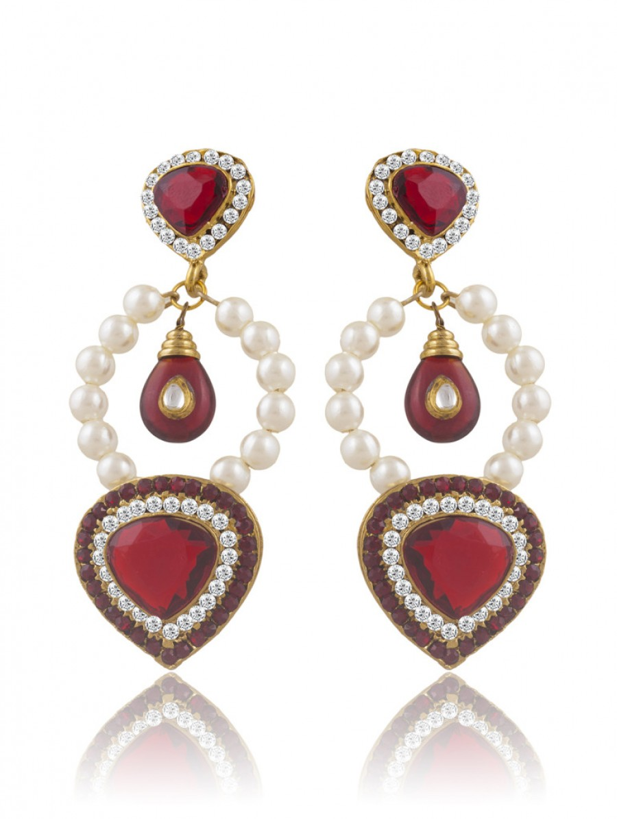 Buy Sukkhi Luxurious Gold Plated Pearl Earring For Women Online