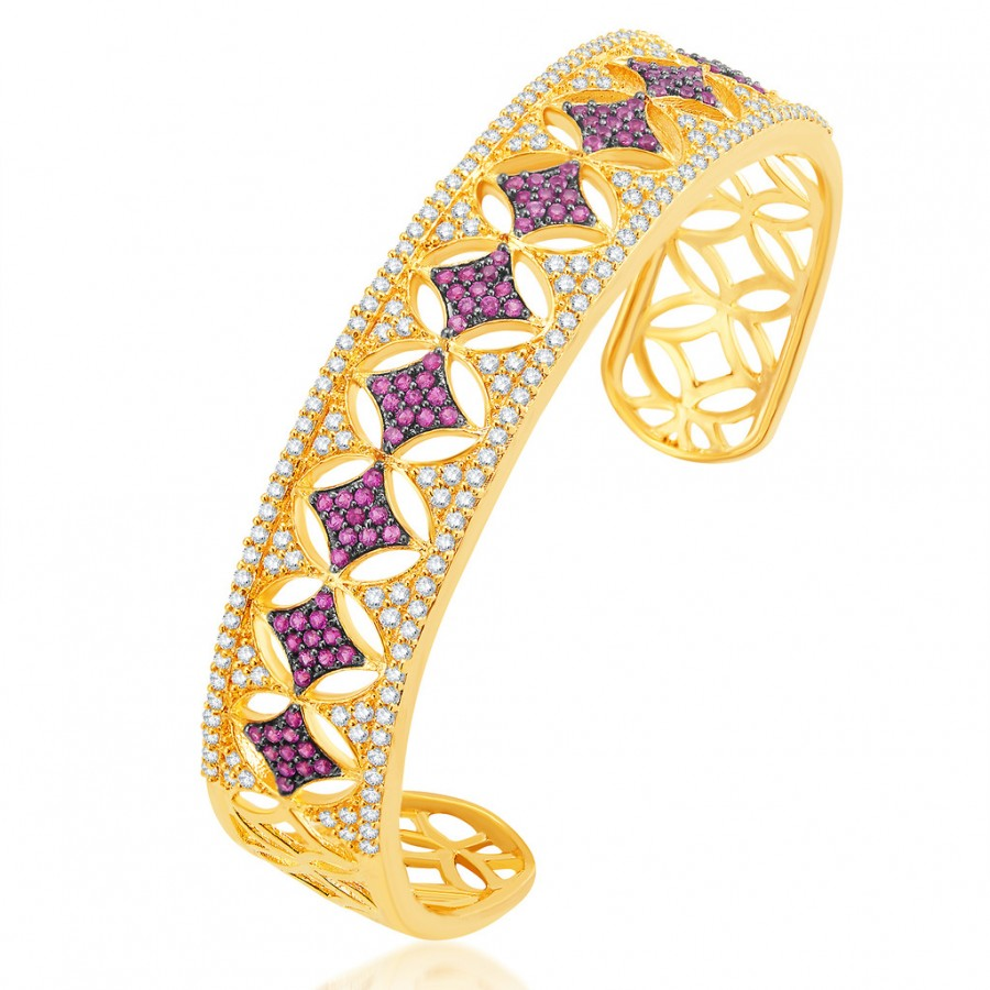 Buy Pissara Eye-Catchy Gold Plated CZ Kada Online
