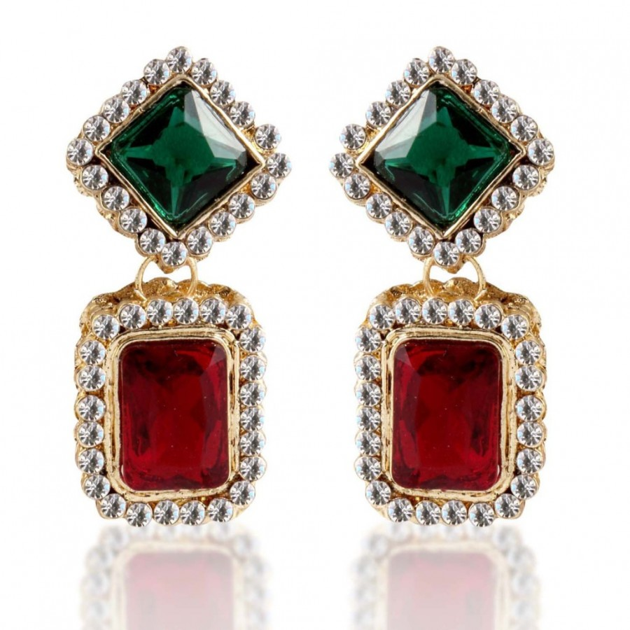 Buy Sukkhi Fascinating Gold Plated AD Earring For Women Online