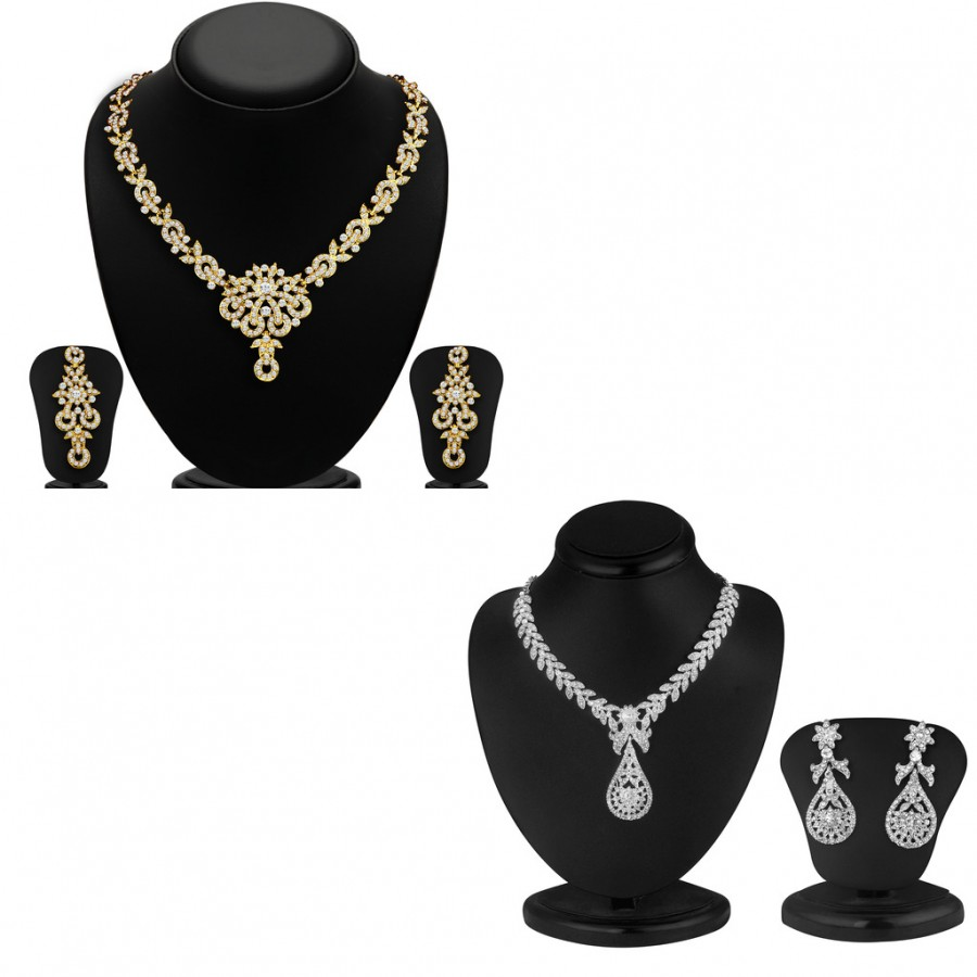 Buy Sukkhi Angelic 2 Pieces Necklace Set Combo Online