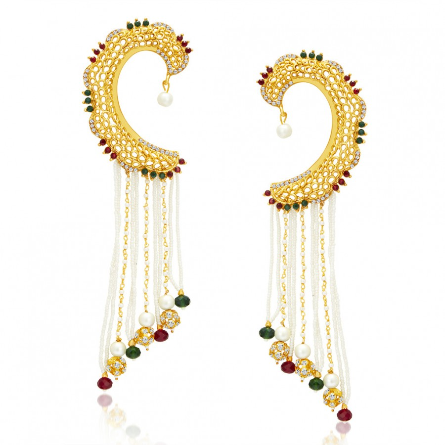 Buy Sukkhi Eye-Catchy Gold Plated Pearl Earcuff For Women Online