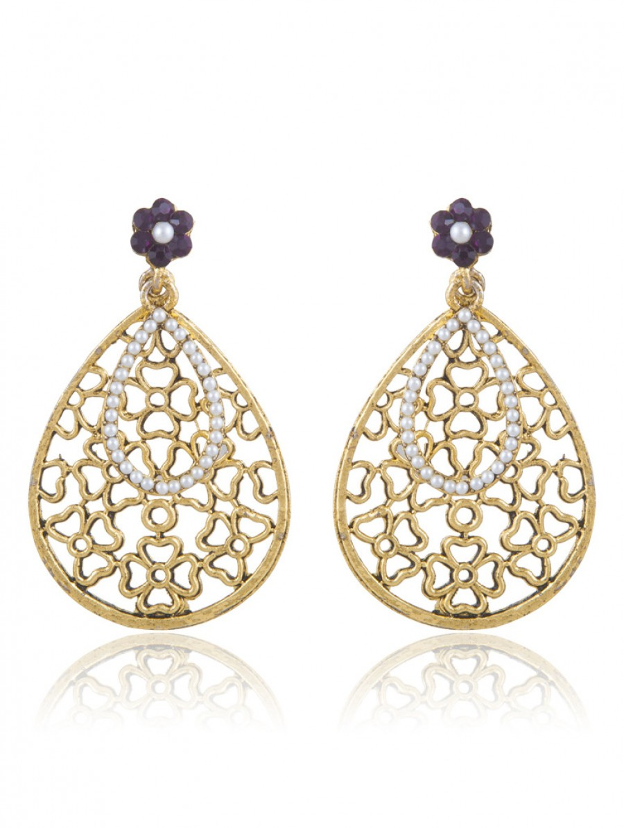 Buy Sukkhi Youthful Gold Plated AD Earring For Women Online