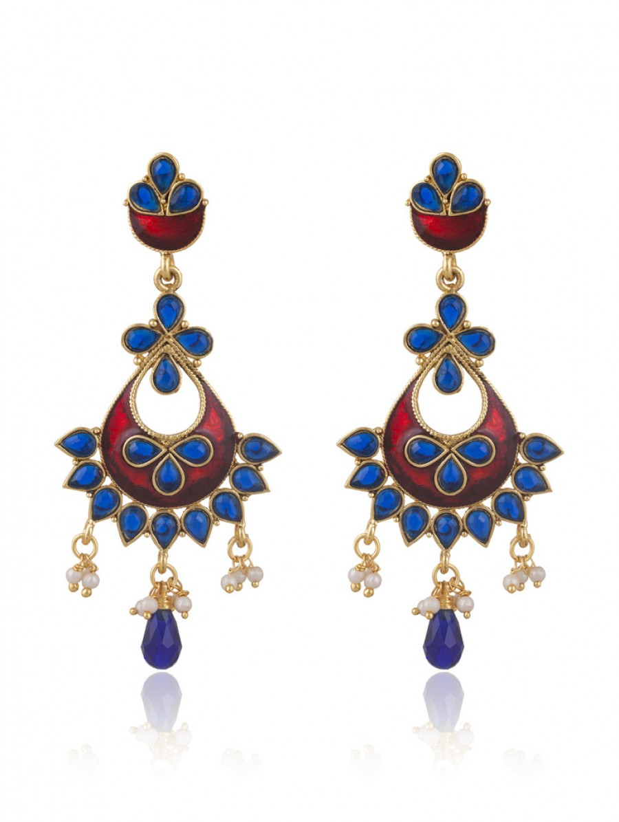 Buy Sukkhi Splendid Gold Plated Chandbali Earring For Women Online
