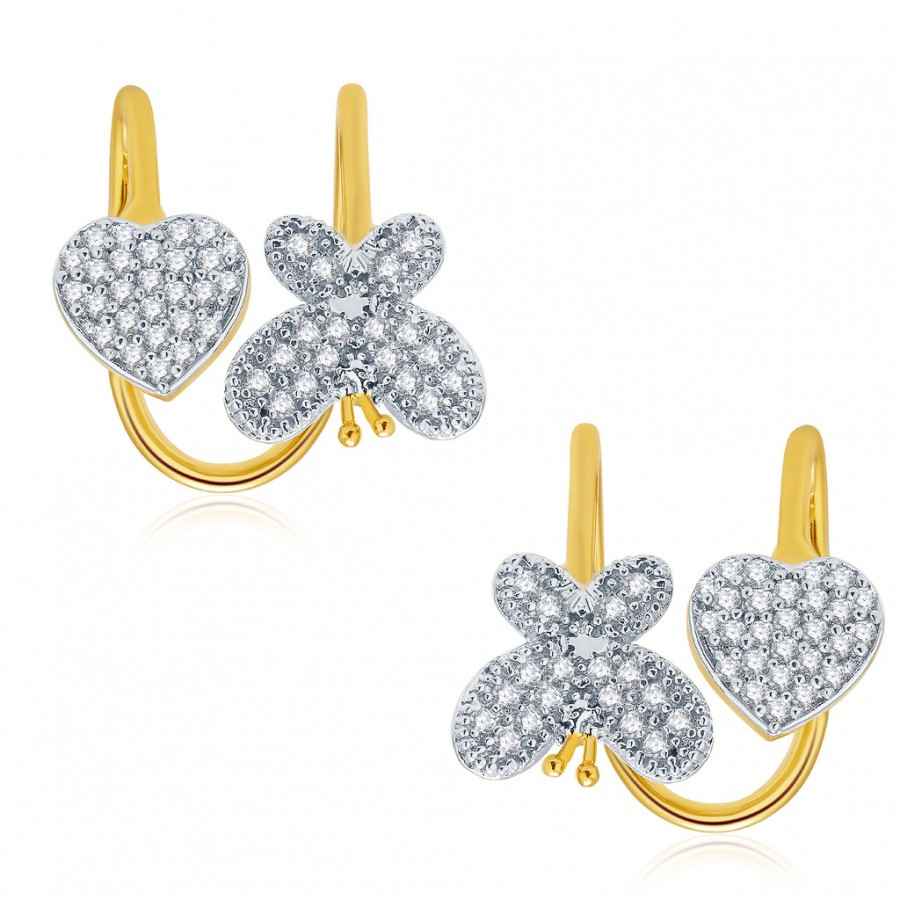 Buy Pissara Remarkable Gold And Rhodium Plated CZ Earcuff For Women Online