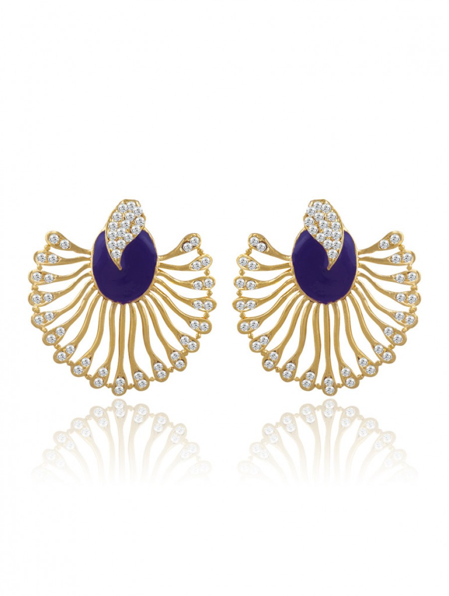 Buy Sukkhi Marquise Gold Plated AD Earring For Women Online