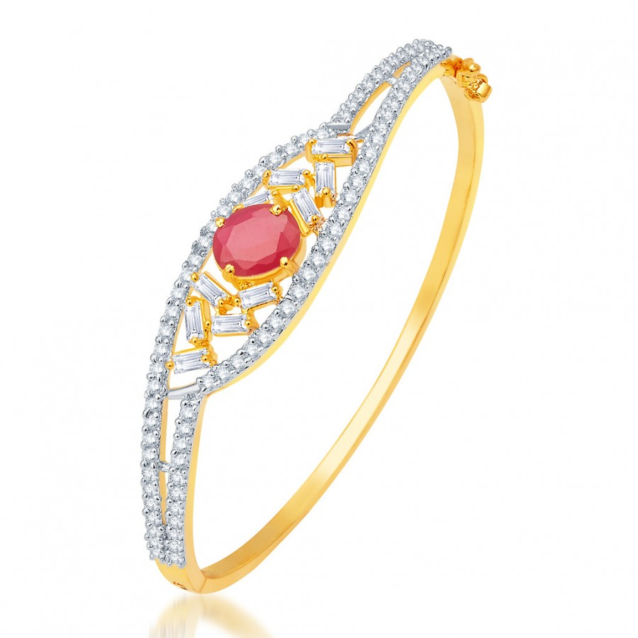 Buy Pissara Ritzy Gold and Rhodium Plated CZ Kada Online
