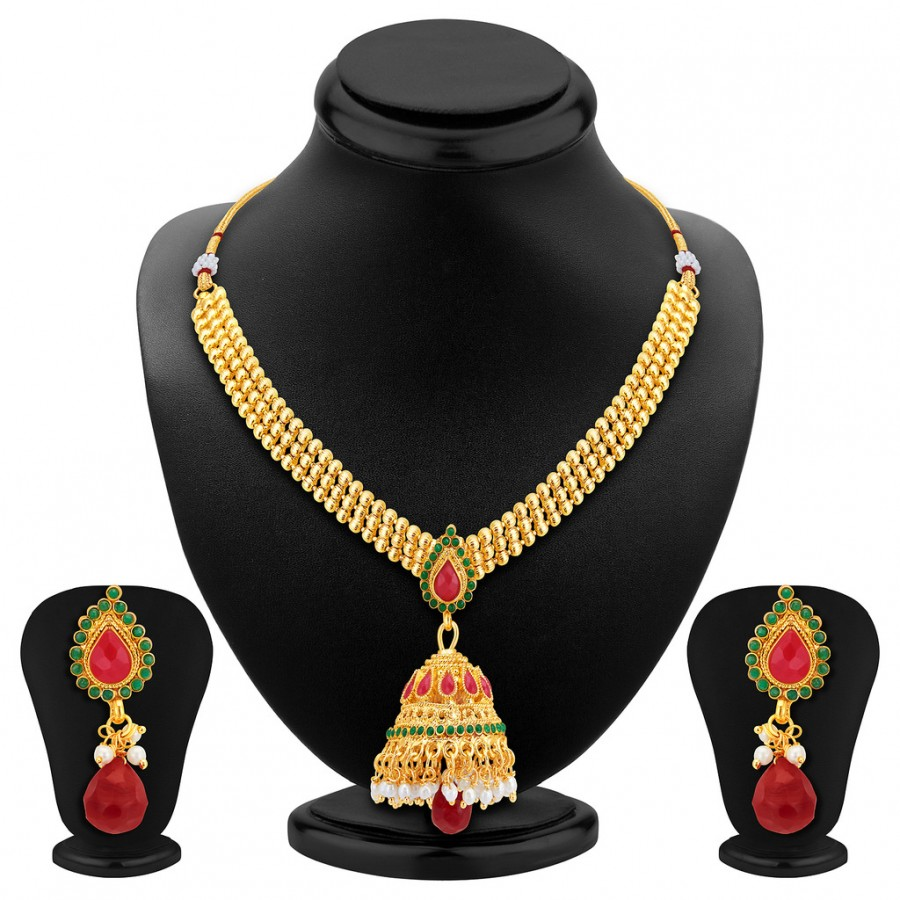 Buy Sukkhi Traditionally Gold Plated Necklace Set Online