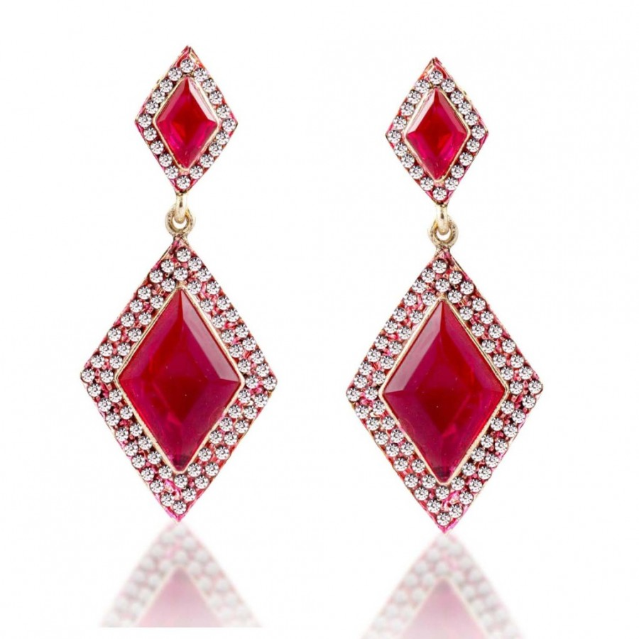 Buy Sukkhi Intricately Crafted Gold Plated AD Earring For Women Online