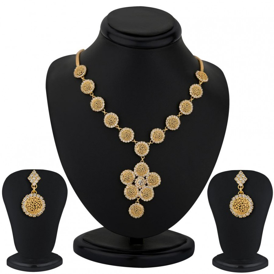Buy Sukkhi Gold Plated AD stone Necklace Stone - 1151VN1300 Online