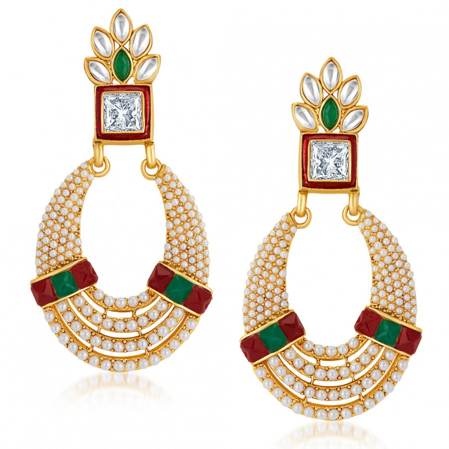 Buy Sukkhi Divine Gold Plated Australian Diamond Earrings Online