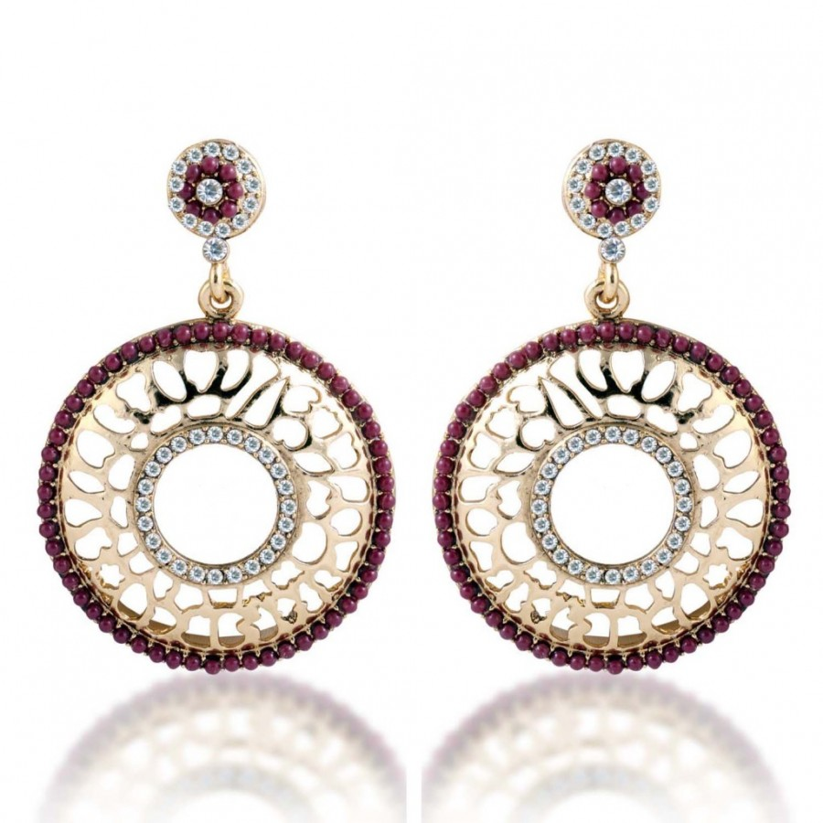 Buy Sukkhi Bewitching Gold Plated AD Earring For Women Online