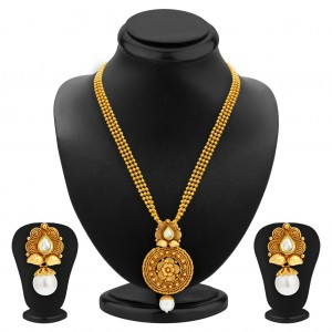 Buy Sukkhi Graceful Gold Plated Kundan Necklace Set For Women Online