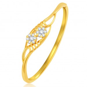 Buy Pissara Finely Gold Plated CZ Kada Online